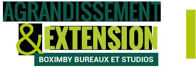 Boximby, agrandissement et extensionBoximbybureaux et studios